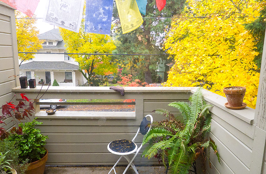 balcony,3417 SW 1st,Apartment, SW Portland, OR For Rent